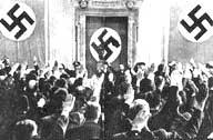 La lettura di una sentenza per il golpe del '44