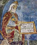 Ippocrate in un affresco del XIII sec. Anagni Cripta del Duomo