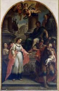 Martirio delle Sante Perpetua e Felicita (G. Gottardi 1780-90 Faenza, Pinacoteca)