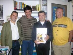 Claudio con i colleghi