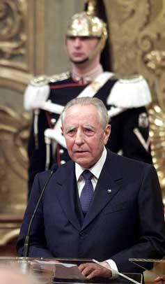 Il Presidente emerito della Repubblica Italiana Carlo Azeglio Ciampi