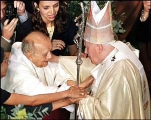 Dom Helder Camara e Giovanni Paolo II