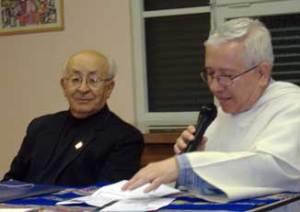 Dom Tomas e Frei Márcio, moderatore dell'incontro