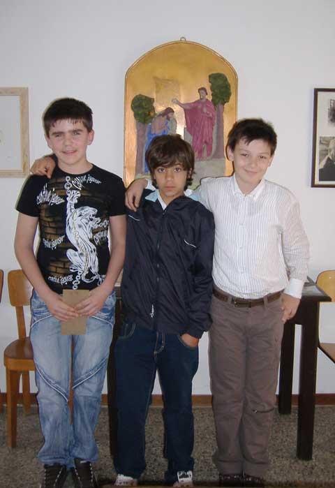 Denis, Fabio e Christian