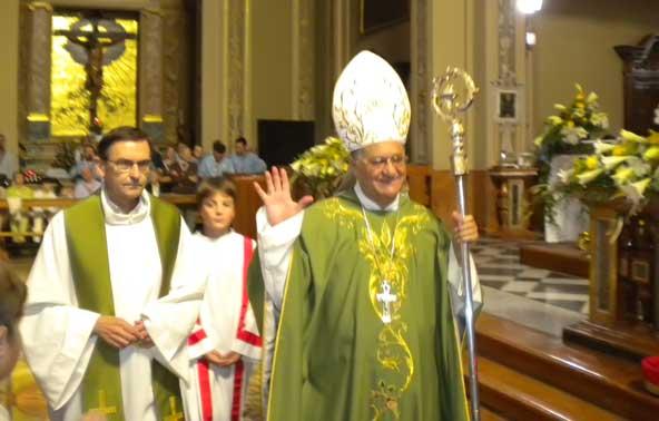 Mons. Furiosi e il Patriarca Fouad Twal (Codogno 20 settembre 2009)